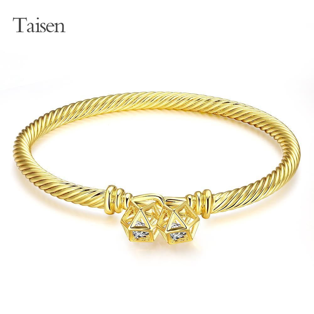 Fine quality charm bracelets women jewelry zircon alloy copper snake