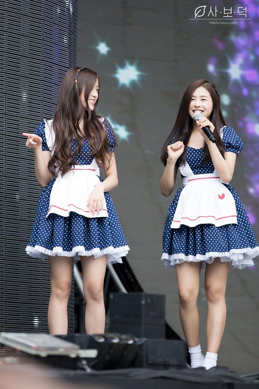 [pic] 150912 #APRIL #CHAEWON #JINSOL at DMC Festival :: แชวอน ♡ จินโซล #에이프릴 #채원  ©사보덕