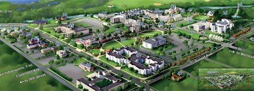 Campus Map   Butler University   Pinterest   Butler university ...