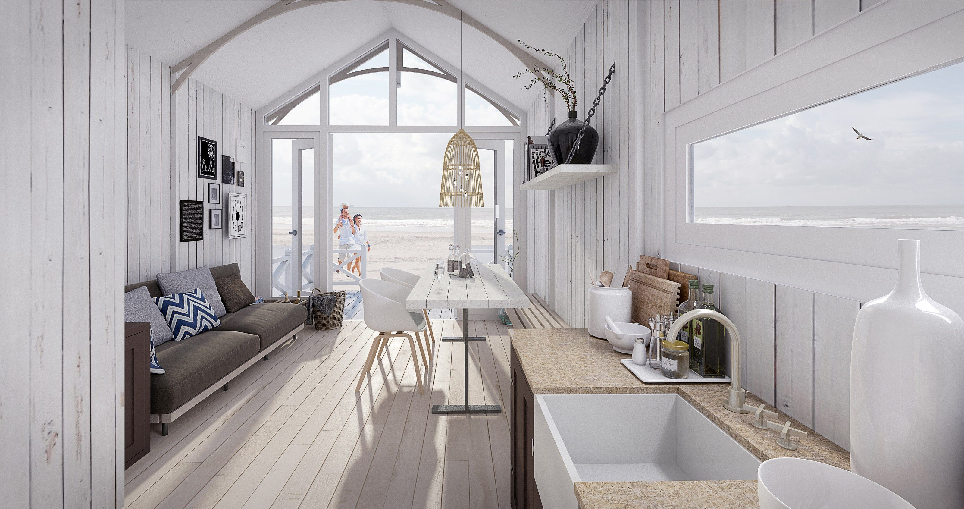 strandh user den haag holiday haus strandh user en strand. Black Bedroom Furniture Sets. Home Design Ideas