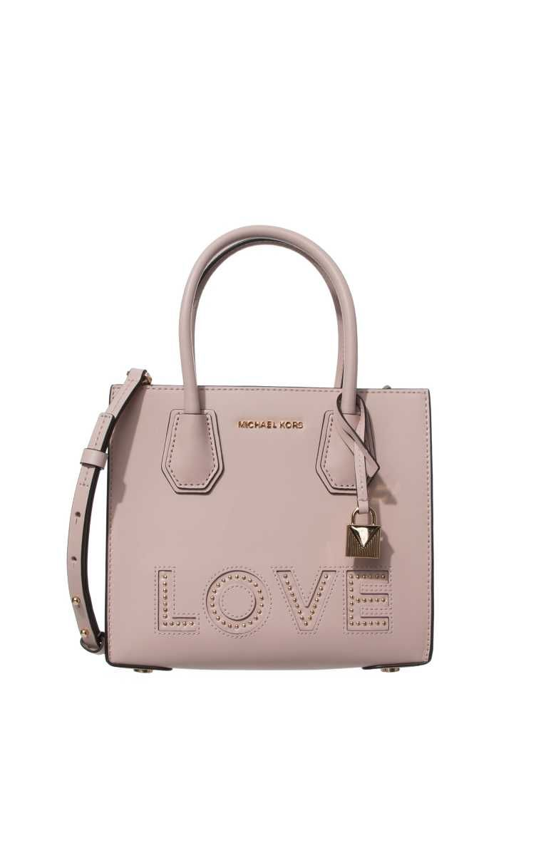 120af2a17944b Väska Mercer Love Leather Crossbody SOFT PINK - Michael - Michael Kors -  Designers - Raglady