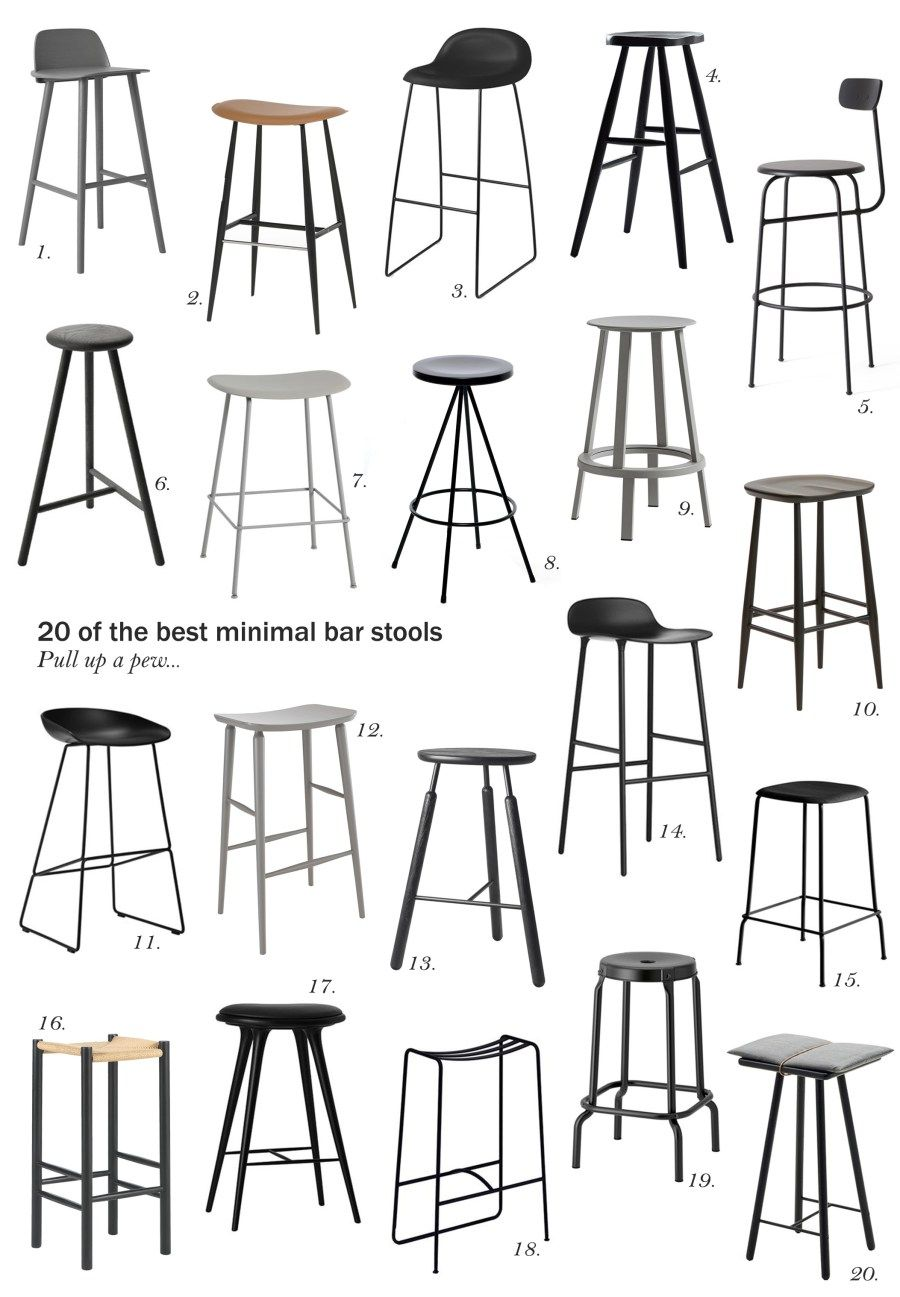20 Of The Best Minimal Bar Stools Cate St Hill Cool Bar Stools