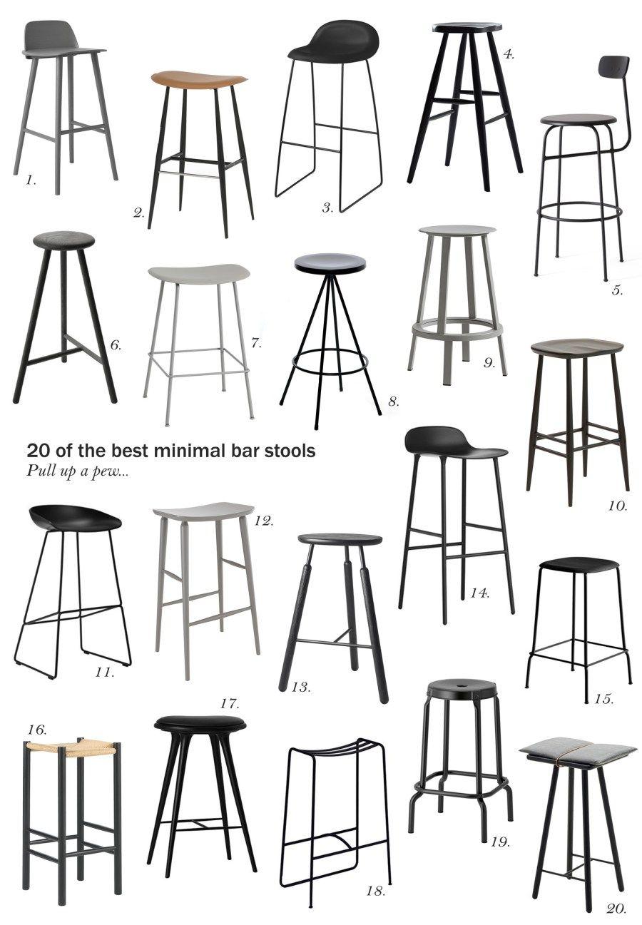 20 Of The Best Minimal Bar Stools Cate St Hill Bar Rumah Kursi Bar Desain Furnitur
