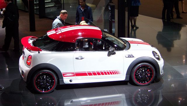 Mini Cooper Coupe In White A Jcw Edition
