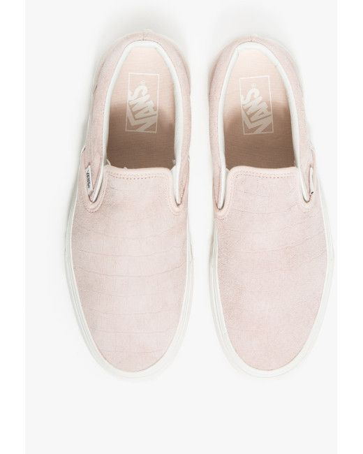 6bb13cfcc9816e Vans Classic Slip-on Iced Pink Croc in Pink (iced pink)