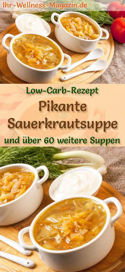 Pikante Low Carb Sauerkrautsuppe - gesundes, einfaches Rezept #gezonderecepten