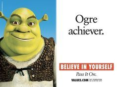 Ogre Achiever Motivational Stories Teaching Posters Inspirational Story