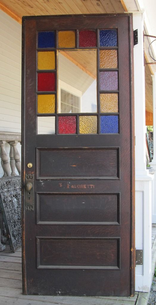 Multicolored stained glass antique door - Multicolored Stained Glass Antique Door Home Decorating Ideas