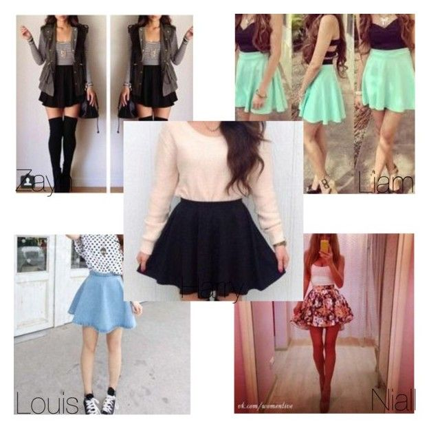 """""""how you wear your skater skirt"""" by onedirection-5sos-preferences122 ❤ liked on Polyvore featuring мода"""