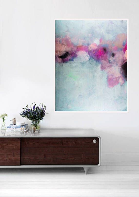 Original abstract painting, modern abstract colorful painting ...
