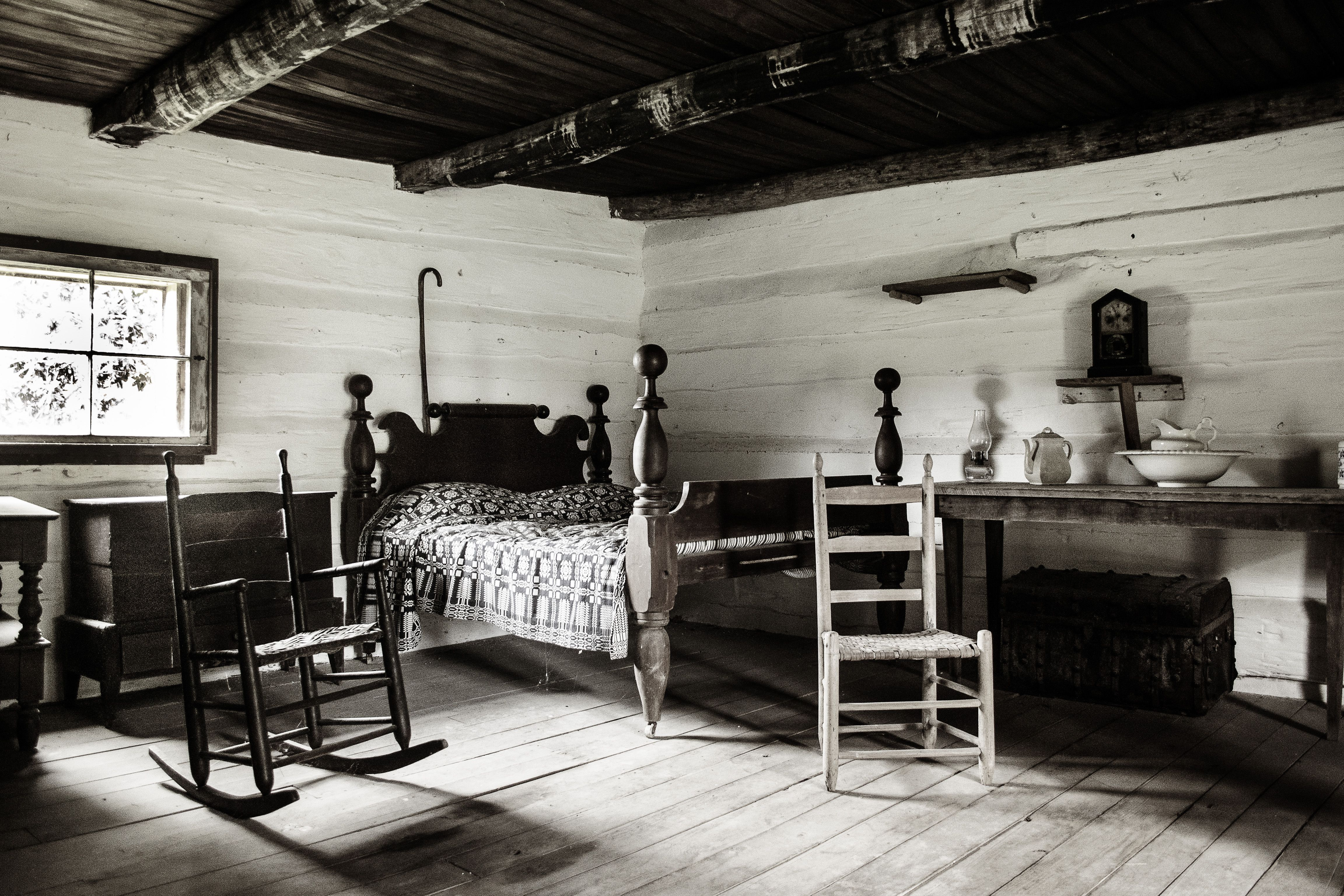 Inside The First Cabin At The Hermitage Home Of President