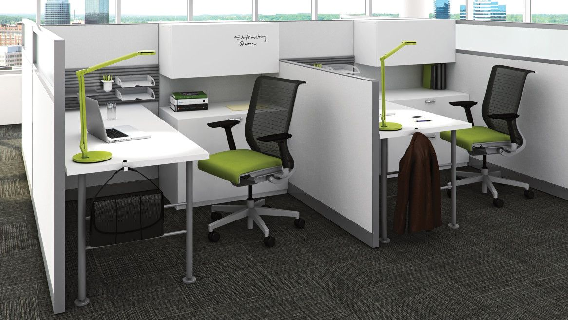 Kick panel systems by steelcase is a furniture system that offers simplicity through form applications ranging from panel based to open plan environments