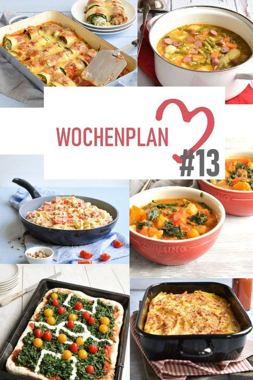 Weekly schedule 13 Varied recipe ideas for a week  What is there to eat during the week I have put together a whole week of delicious recipes for you