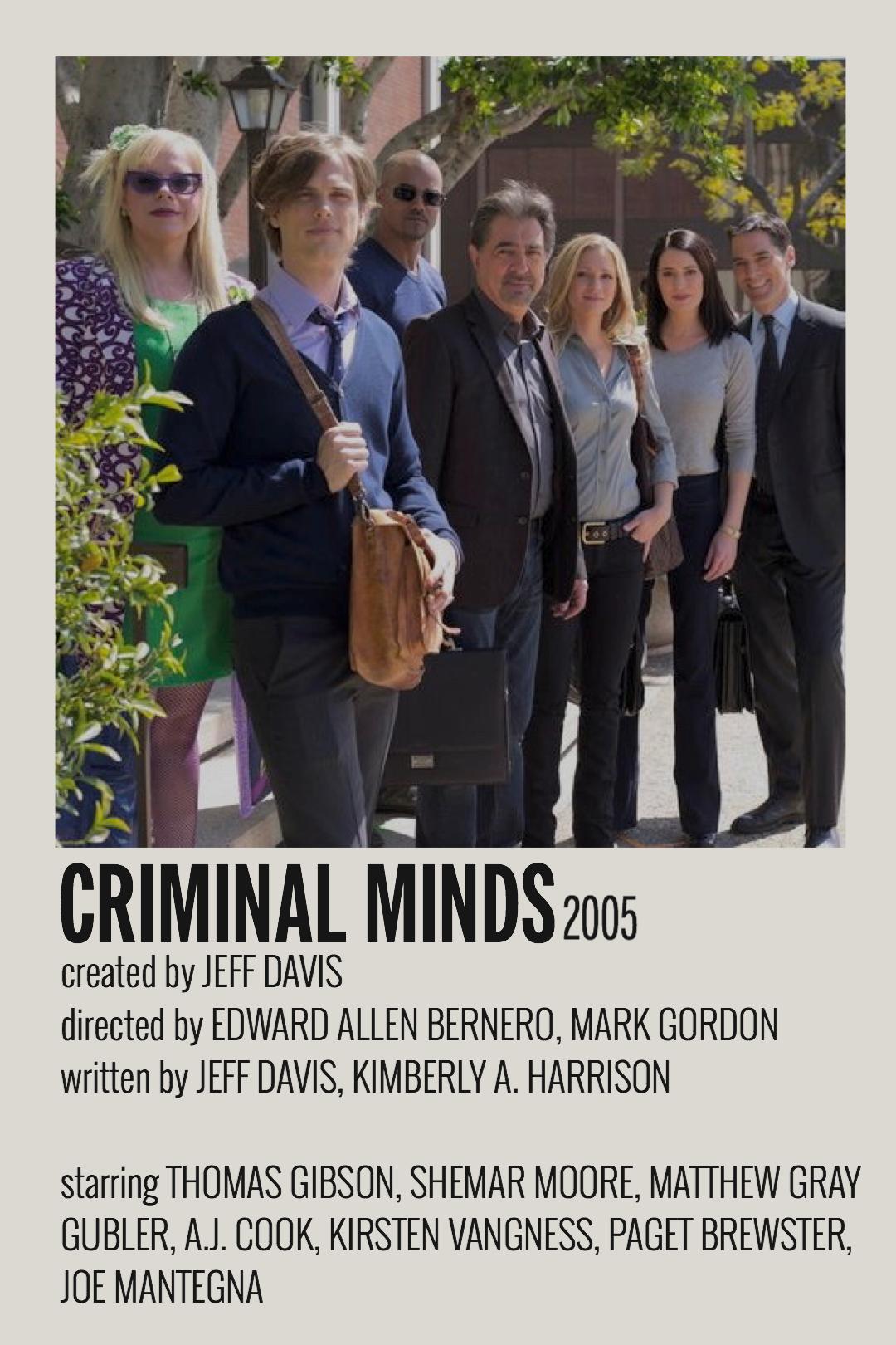 criminal minds poster indie movie