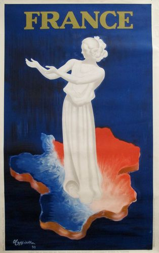 Original Vintage Cappiello Poster, World's Fair in Paris 1937