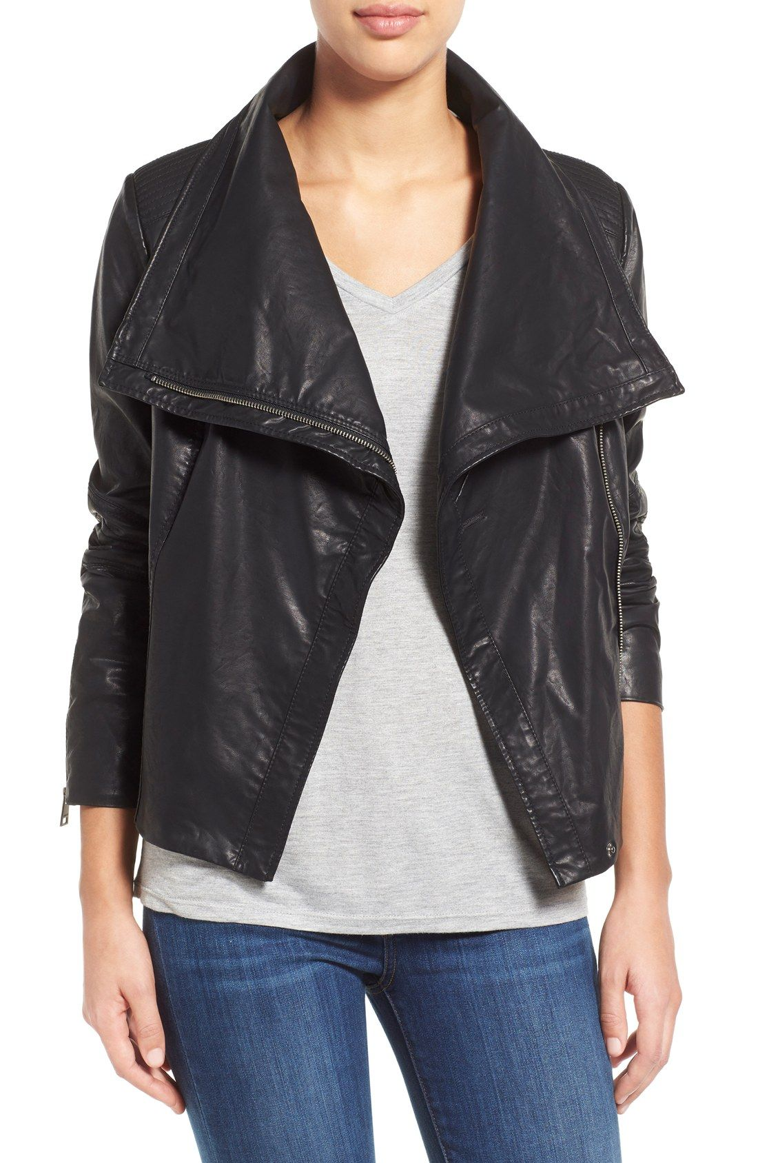 nordstrom anniversary sale faux leather jacket Leather