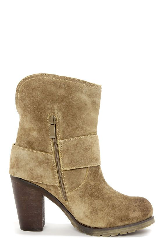eba3fbdc7423 Very Volatile Lilly Olive Leather Belted High Heel Boots at LuLus.com!
