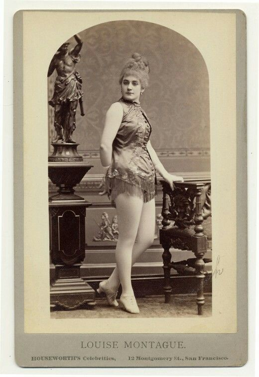End of the 19th century burlesque dancer on a postcard. From the Charles McCaghy Collection at The Ohio State University Library.