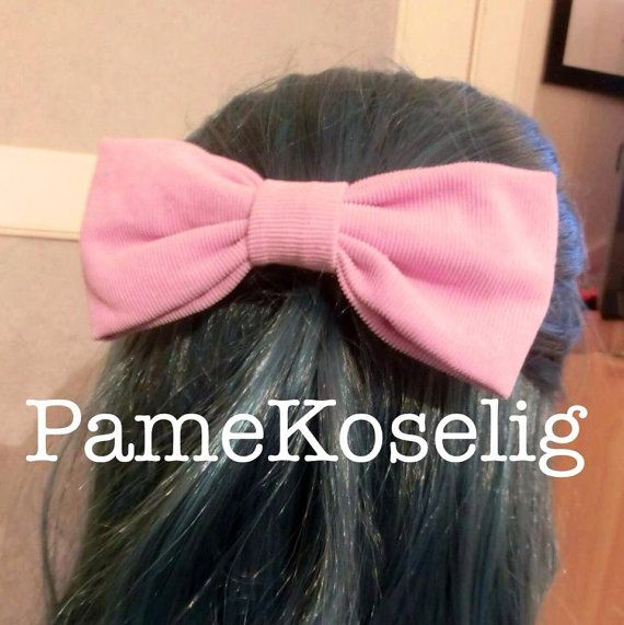 Big Pink-Lilac Fabric Hair Bow.