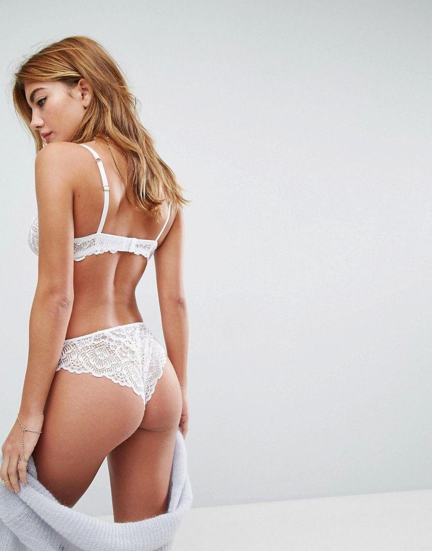 06ebe69d2e ASOS Rita Basic Lace Mix   Match Hipster Bikini Bottom - White