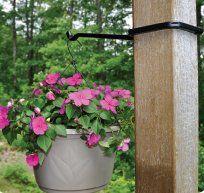 Amazon Com 13 1 4 Metal Hanging Plant Fence Post Hanger Slips