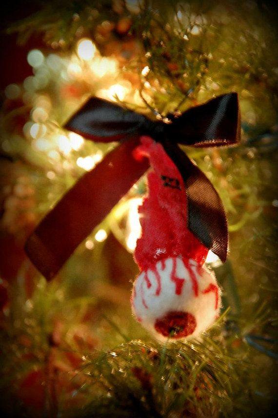 Horror Christmas Ornaments.Eye Eyeball Ornament Horror Goth Christmas Tree Ornament