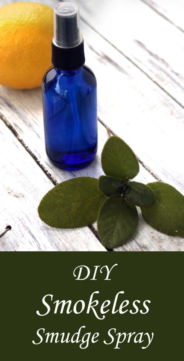 DIY Smokeless Smudging Spray for Energy Clearing