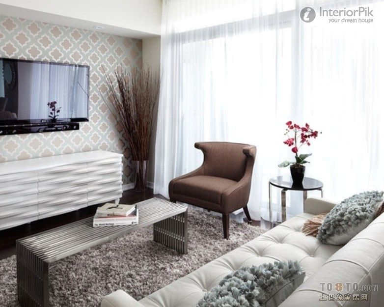 Simple To Build 20 Square Meters Living Room Tv Background Wall
