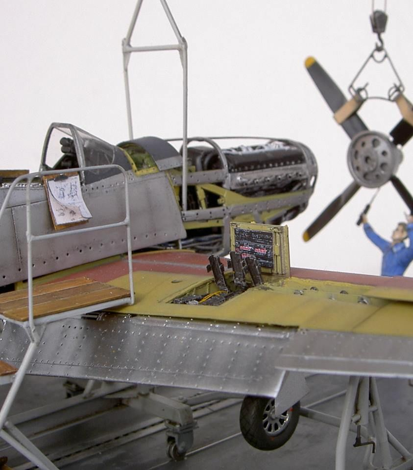 Model P-51 in factory