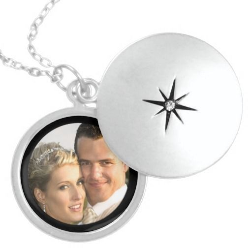 Sterling Silver Locket Necklace with Picture