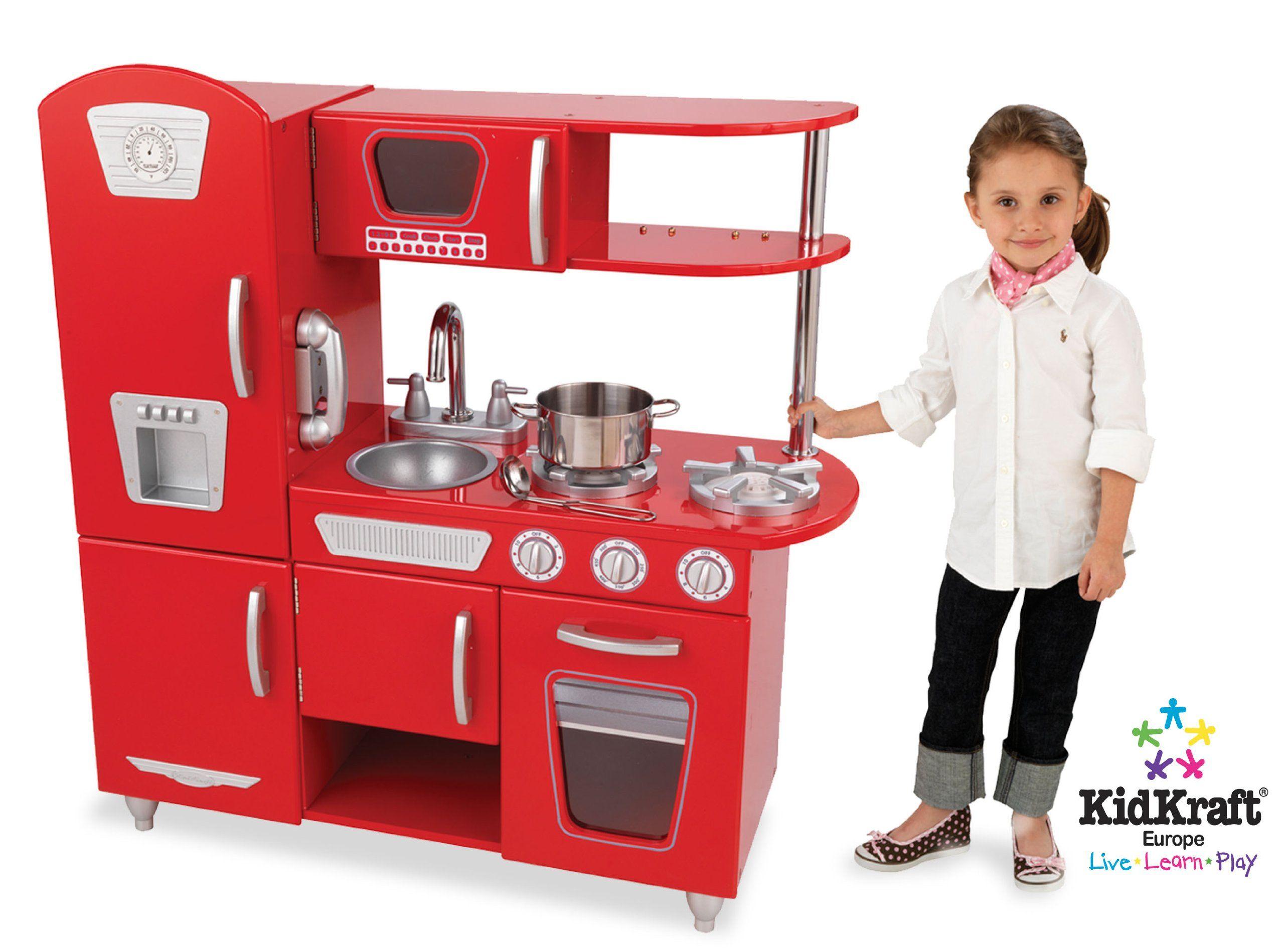 Kidkraft large pastel kitchen  Amazon KidKraft Red Vintage Kitchen Toys u Games  Gift ideas