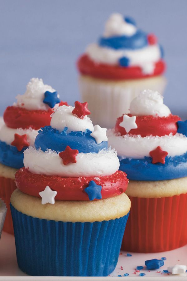 Red White And Blue Cupcakes Recipe Red White And