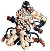 Venom Vs Spidey Speedo Time - color by 09tuf | Super