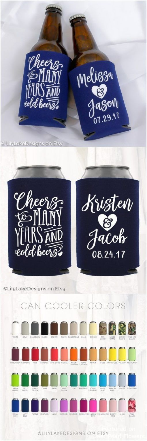 Personalized Wedding Can Cooler #personalizedwedding Personalized Wedding Can Cooler #weddings #favors #deerpearlflowers #dpf #weddingfavors #weddingideas #personalizedwedding