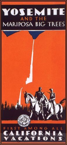 Yosemite-California-Vintage-Poster-Repro-Travel-USA-National-Park-Vacation