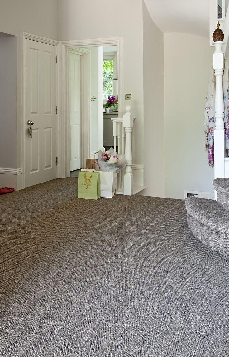Herringbone Flatweave Sisal Carpet On Stairs And Landing Sisal Carpet Carpet Stairs Sisal Flooring