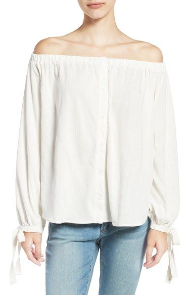 39209bf2065dfd BP. Off the Shoulder Blouse available at  Nordstrom