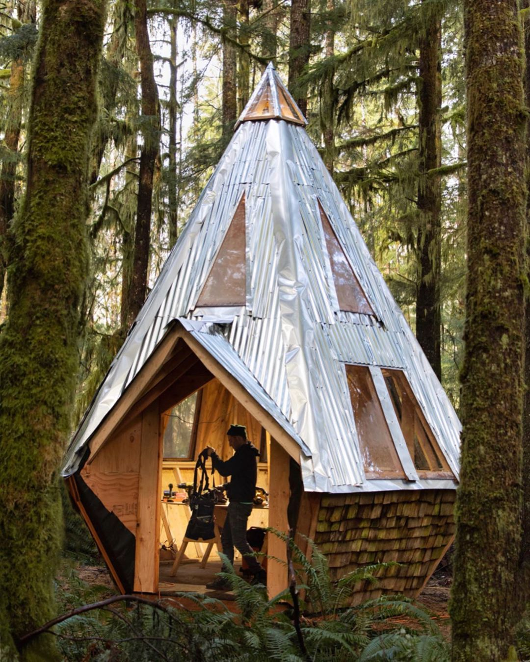 Pin by Rachel Michaels on Nature, paysages | Small house, Tiny house cabin,  Building a cabin