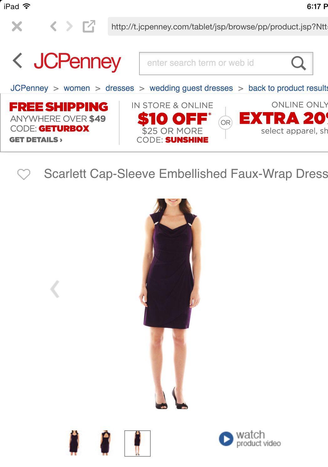 Scarlett capsleeve embellished fauxwrap dress jcpenney