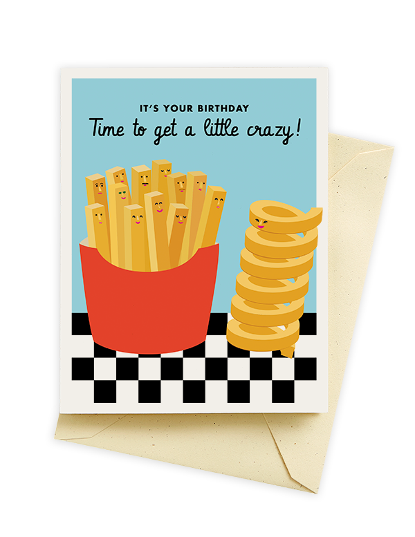 Seltzer Goods Curly Fry Birthday Card. Time to get a