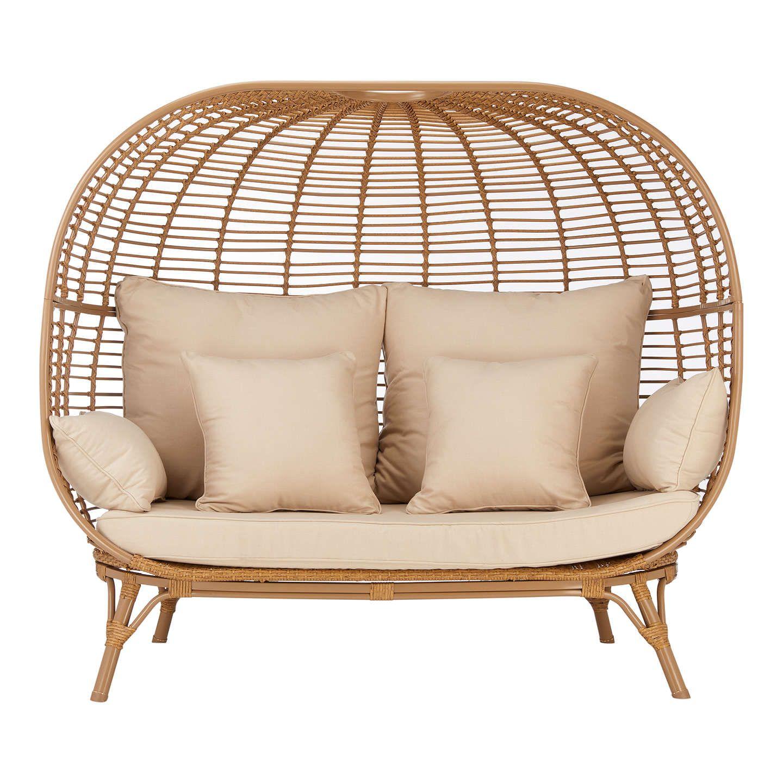 John Lewis & Partners Cabana 7 Seater Garden Sofa Pod, Natural