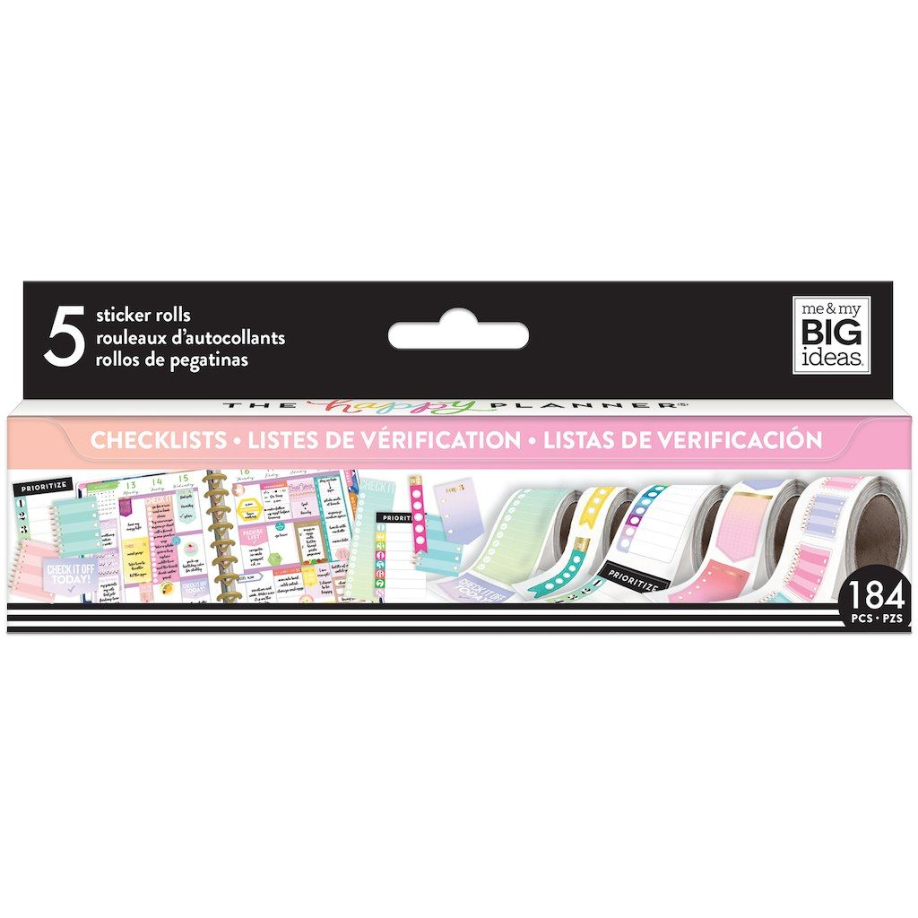 Get Create 365™ The Happy Planner® Sticker Rolls, Checklists