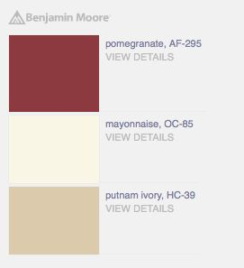 Bold Palette With Pomegranate Red Mayonnaise Beige