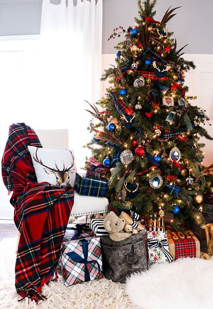 Lots Of Unique Ideas And Inspiration For Using Plaid Christmas Decor In Your Home The Holidays Including Both Buffalo Check Traditional Plaids