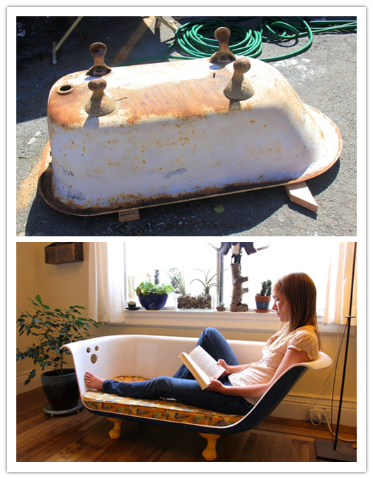 How To Re-purpose A Clawfoot Bathtub Into A Couch | Recycling ...