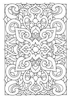 Rectangle Mandala Coloring Pages Portraits