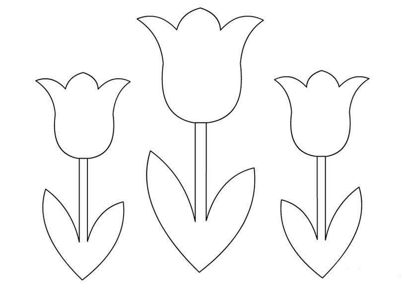 Шаблоны цветов для вырезания из бумаги распечатать формат а4