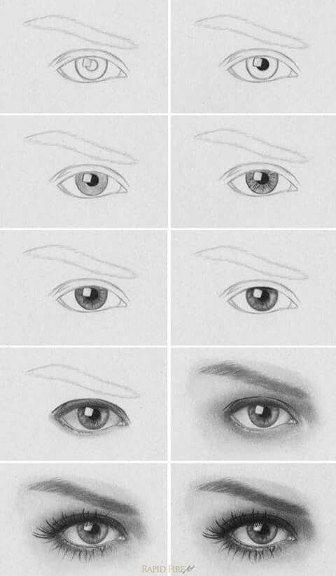 Pasos para pintar un ojo   Consejos de Dibujo