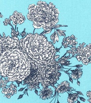 Keepsake Calico Cotton Fabric Paisley Turquoise Floral Quilting Fabric Online Calico Fabric Cotton Quilting Fabric