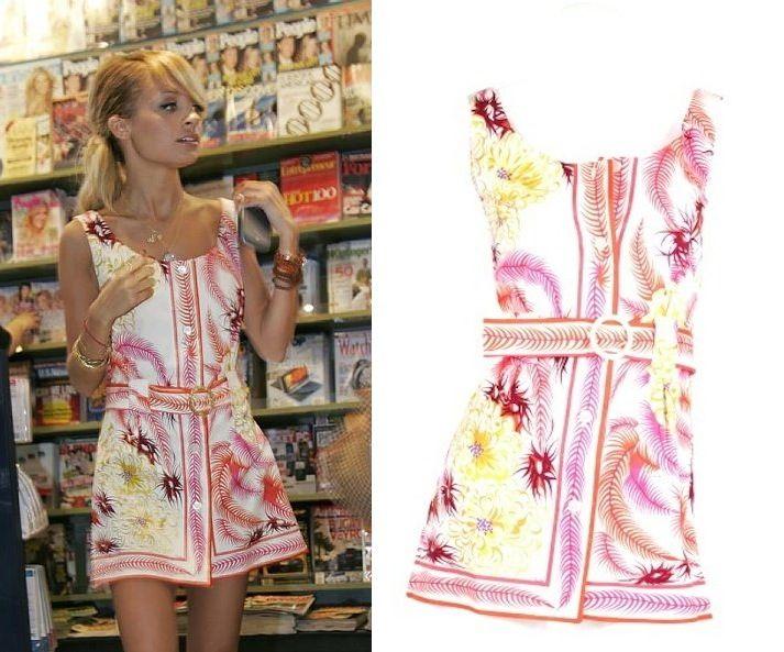 db3e05fd41951 Nicole Richie wears an adorable Pucci vintage mini dress! ❤️